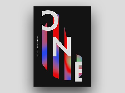 ONE colors baugasm one poster
