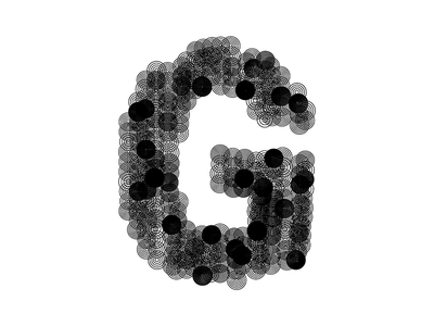 »G« — Creative Coding V density pattern circles noise sindus coding typography processing generative design creative coding