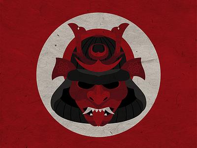 武士     Samurai fear danger mask helmet sun warrior japan bushido samurai