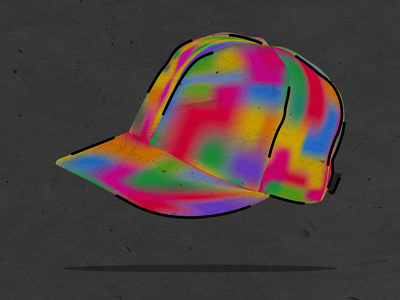 Rainbow Cap — Back to the Future illustration vector illustration textures structure flat gradients lines colorful future rainbow cap biff doc brown marty mcfly back to the future bttf