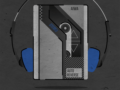 AIWA Walkman — Back to the Future oldschool head phones stereo the power of love doc brown biff marty mcfly bttf backtothefuture walkman aiwa