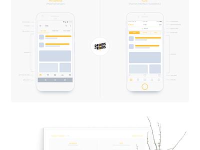 Designers' Cheatsheet - Android & iOS (freebie) download free cheatsheet guidelines design material design ios android guides freebie