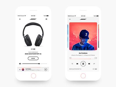BOSE - iOS app redesign design ios iphone headphones wireless music player ux ui redesign bose