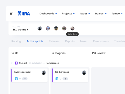 ⚡️ Dashboard – UI Challenge cells profile grey white clay clean dashboard jira app web ux ui
