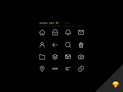 💖 Line icons set freebie for Sketch free freebie icons set line minimalistic white icon sketch vector simple