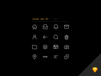 💖 Line icons set freebie for Sketch