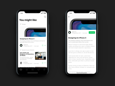 ✌️ Medium Concept on iPhone X minimalistic clean white concept redesign medium ios 11 iphone x