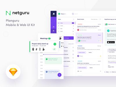 Planguru UI Kit Freebie - Case Study free clean ios mobile web ux ui kit freebie case study