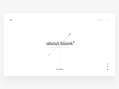 📝 about:blank² notes design ux ui web clean simple notepad white blank