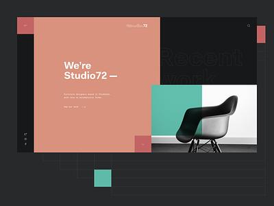 S/72 — 120618 interior photo ui minimal colors clean design web studio72