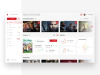🎥Stream Management Platform - Light & Dark UI stream management netflix dashboard design minimalistic app web light dark clean ui