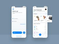 💸App for saving your damn money app mobile design white ios clean ux ui