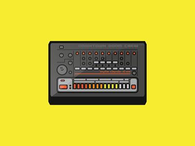 TR-808 Drum Machine cute icon illustration breaks hip hop techno house sampler drums sequencer drum machine roland tr-808