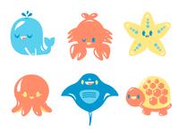 SeaLife creatures 2D