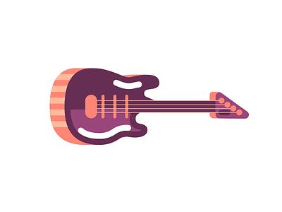 Happy E-Guitar illustration music character happy design icon guitar