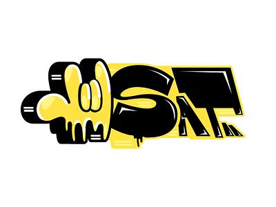 Sat HandsUp throwup hand sat logo urban digital graffiti