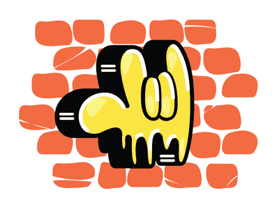 The Hand streets urban digital graffiti wall hand