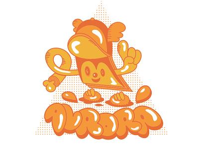 Powerplopp  orange illustration bubble vector graffiti mascot