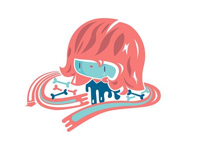 La Chombita vector hands turqis red chomba boy girl illustration