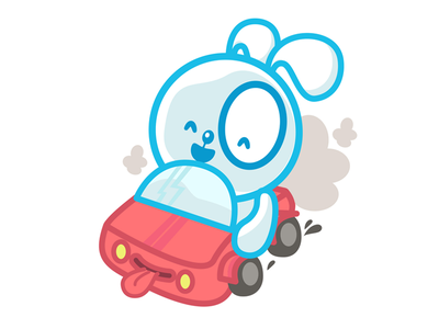 Car Banni Mood sticker sweet character kawaii bunny car mood sticker