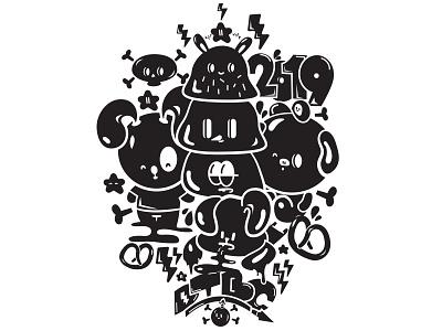 DTBC 2019 urban design vector cute art urban kawaii cute characters