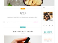 Clumsy Chic / Blog Design