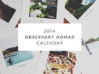 2014 Observant Nomad Calendar