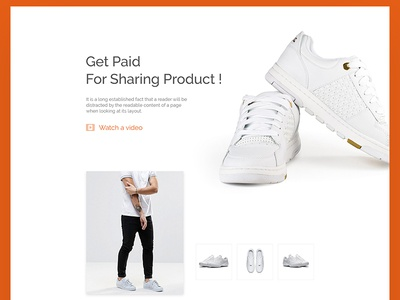 eCommerce Shoe Landing page  product landing product modern website landing ecommerce web design web product landing page shoe home page landing concept