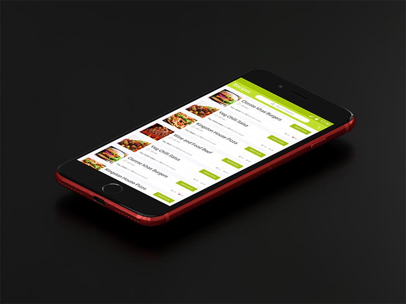 Restaurant apps design conccept