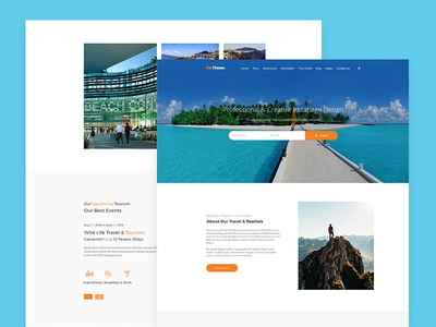 Travel Website Template Design