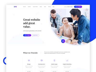 Digital Agency Header Design Concept