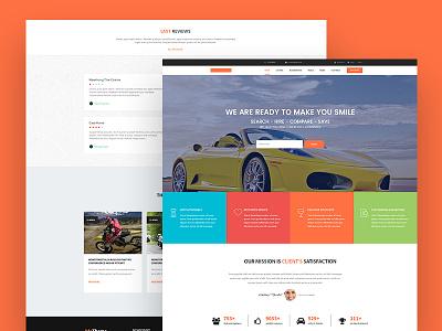 Automobile Website Design car agency car shop car website automobile company cars automobile landing page web design