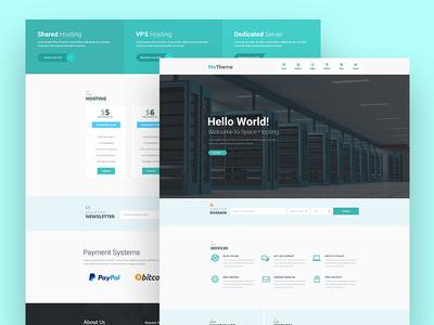 Hosting Landing Page Design
