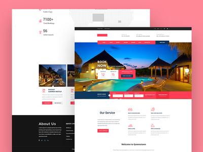 Hotel Booking Landing Page Design