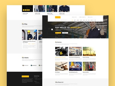 Industry Landing Page