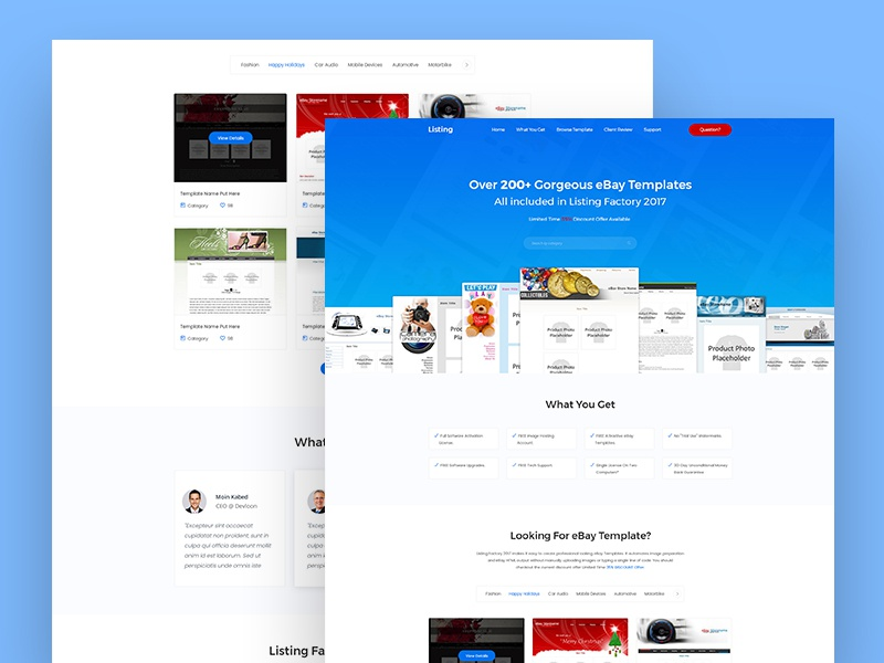 Listing Factory Website Designselling Ebay Template By Juwel Rana