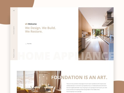 Home Appliance Web Layout Design (WIP)