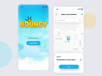 Bouncy App Design
