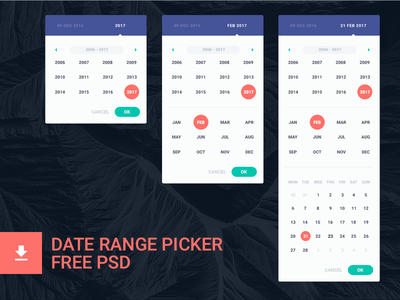 Date Range Picker (free psd) date picker freebie date range picker free psd date picker calendar freebie