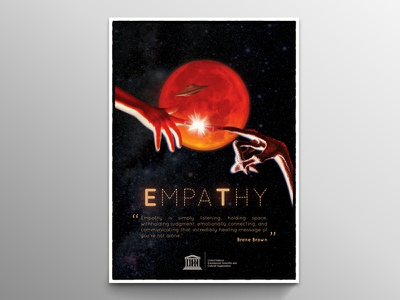 Empathy yunus ünsal poster poster design empati e.t. empathy