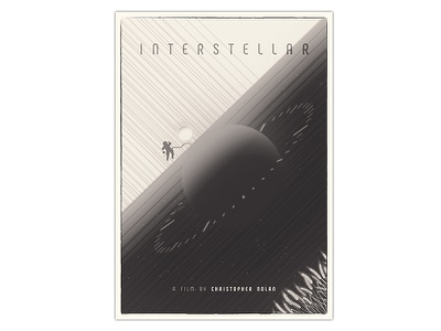Interstellar Poster typography illustration designer print poster design poster a day