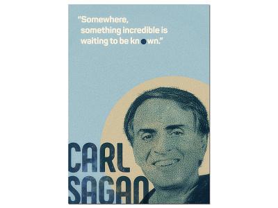 Carl Sagan Poster yunus ünsal typography blue dot cosmos carl sagan illustration design poster design print poster