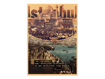 Istanbul Vintage Poster yunus ünsal vintageposter vintage typography design everydayposter everydaydesign poster illustration