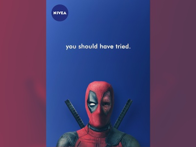 Advertisement Poster Design yunus ünsal graphic design branding deadpool nivea poster advertisement