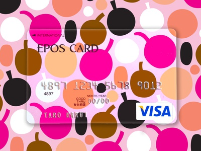 Credit card illo color harmony happy pattern design sweet vector art japan scandinavian style scandinavian flat illustration flat design fun colorful friendly pattern berry credit card design credit card illustration leena kisonen flat color