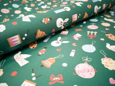 Xmas gift wrap pattern pattern design xmas 2019 flat illustration lettering colorful friendly cute christmas illustration xmas wrapping paper gift wrap scandinavian illustration leena kisonen flat color