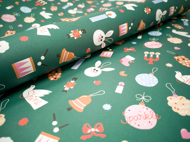 Xmas gift wrap pattern pattern design xmas 2019 flat illustration lettering colorful friendly cute christmas illustration xmas wrapping paper gift wrap scandinavian illustration leena kisonen flat color