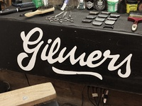 Gilmers Barbershop Lettering