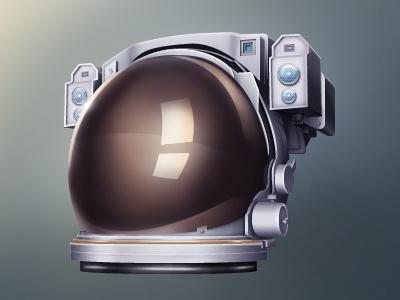 Astronaut Icon space astronaut reflection visor icon hat 3d job helmet