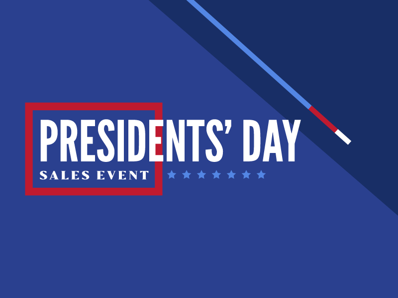 Presidents Day typography league gothic darius america blue red sale sales event patriotic presidents day